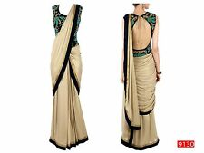 Saree Exclusive Beautiful Designer Bollywood Indian SAREE Partywear Sari 118