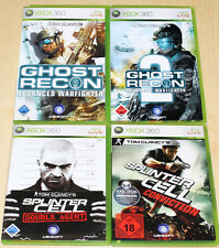 4 XBOX 360 SPIELE SAMMLUNG TOM CLANCY'S GHOST RECON 1 2 SPLINTER CELL CONVICTION