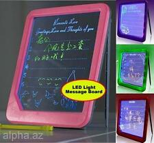 LED Fluorescent Note Leaving Message Lighted Sign Holder Erasable Writing Board