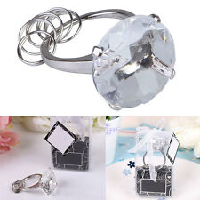 Super Big Diamond Crystal Ring Keychain Romantic Wedding Favors Party WhiteColor
