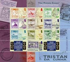 Tristan da Cunha 2015 MNH Potato Essays Petition Postage Europhilex 10v M/S