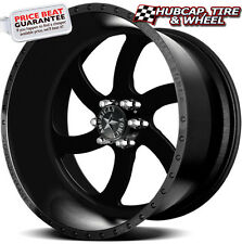 "AMERICAN FORCE BLADE SS6 FLAT BLACK SOLID 22""x10 WHEELS RIMS 6 LUG (set of 4)"