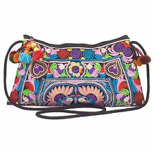 Colorful Thai Hmong Embroidered Hill Tribe Purse Crossbody Bag Boho Hippie Hobo