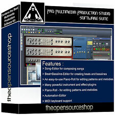 Complete Professional Media Studio and Audio Recording Music Software Package