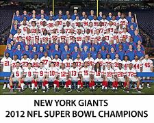 NY Giants - 2012 Super Bowl Champions, 8x10 Color Team Photo