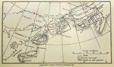 1923 Arctic - FIRST CHARTING of  NORTHERN GREENLAND COAST - Peary Land - 08