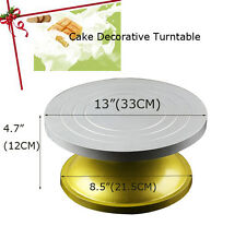 "13"" Bakeware cream cake Biaohua turntable rotation steel table Decorating frame"