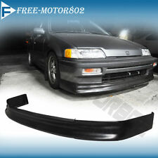 FOR 88-90 HONDA CIVIC EF 4D SEDAN 3D HB CS FRONT BUMPER LIP SPOILER BODYKIT PU