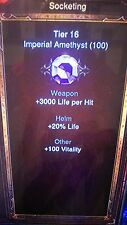 DIABLO 3 RoS IMPERIAL GEMS FOR RING ENCHANTING xbox one crafting 100 of each GEM
