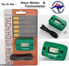 Green hour meter & tachometer resettable chainsaw hedge trimmer generator engine