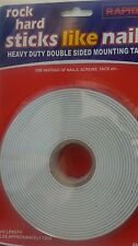 RAPIDE DOUBLE SIDED FOAM MOUNTING TAPE 5M X 24MM EXTRA STRONG HEAVY DUTY