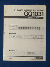 YAMAHA GQ1031 EQUALIZER SERVICE MANUAL ORIGINAL FACTORY ISSUE GOOD CONDITION