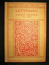 RARE Calligraphy Lettering 1930 Illustrated HC Graily Hewitt Writing Penmanship