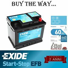 BATTERIA EXIDE START-STOP - EL600 - 640EN - FIAT DOBLO (152) 1.4 NATURAL POWER
