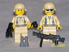 Lego 2 Custom Minifig WW2 USMC MODERN WARFARE SOLDIERS