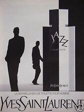 PUBLICITÉ PAPIER 1989 YVES SAINT LAURENT EAU DE TOILETTE - ADVERTISING