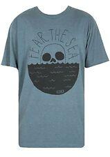 Roark Fear The Sea Tee (S) Heather Blue