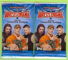 LOT OF (2) 2016 TOPPS WWE ROAD TO WRESTLEMANIA RETAIL RELIC OR AUTO HOT PACK