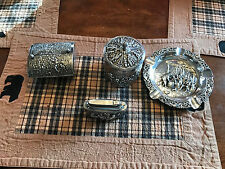 Vintage Myflam Diplomat table lighter ash tray and cigarette cases West Germany