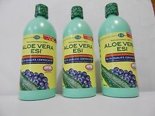 3X ALOE VERA ESI PURO SUCCO 100%- MIRTILLO - 3X 1000 ML - ALTA QUALITA'