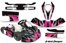 AMR Racing JR CRG Cadet Bambino Kart Graphic Decal Sticker Wrap Kit TRIBAL PINK