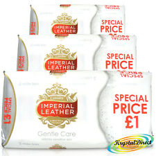 9 Bars Of Cussons Imperial Leather Gentle Care Soap 100g White