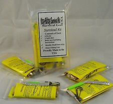 Itsy-Bitsy Fishing Survival Kit (Lot of 4) For Bugout Bag or Wilderness Travel