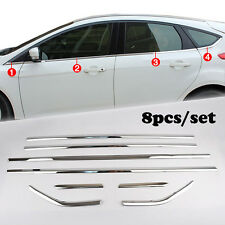 Fit For 12- Ford Focus Hatch Chrome Bottom Window Sill Cover Trim Molding Strip