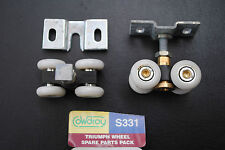 2 Cowdroy TT331 Triumph Sliding / Slider Overhead Door Rollers Bearings 4 Wheels