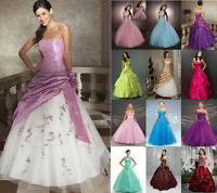 New Prom Party Ball Gown Formal Wedding Bridesmaid Evening Dress Stock Size 6-16