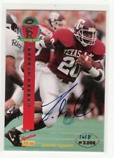 RODNEY THOMAS TEXAS A&M  UNIVERSITY AUTOGRAPHED FOOTBALL CARD DECEASED