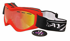 RAYZOR UV400 RED ANTI FOG VENTED SKI SNOWBOARD GOGGLES RED MIRRORED LENS RRP£69