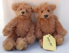 Prototype Teddy Bear Twins Bearly There Linda Spiegel OOAK Jointed Super Cute