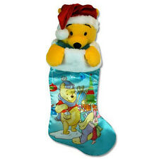 NEW Winnie the Pooh Plush 3D Plush Head Christmas Stocking   *ornament*