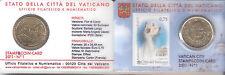 B) VATICANO COIN CARD 50 CENTESIMI CON FRANCOBOLLO DEL 2011 FDC