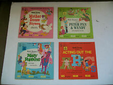 VNTG Lt of 4 Disneyland Story Books Mary Poppin Peter Pan Mother Goose Rhyme ABC