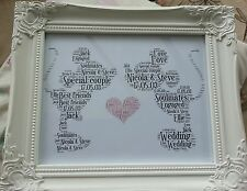 Personalised Disney Mickey & Minnie Wedding/Anniversary chic gift. Print only