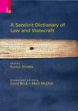 A Sanskrit Dictionary of Law and Statecraft (2015, Hardcover)