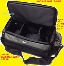 LARGE SIZE PRO CARRYING CASE BAG  DIGITAL CAMERA CAMCORDER HANDYCAM 13X5X7