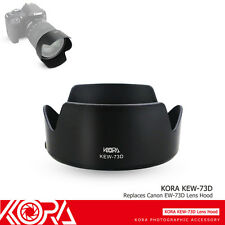 KORA EW-73D Lens Hood for CANON EF-S 18-135mm f/3.5-5.6 IS USM Lens+80D 70D 760D