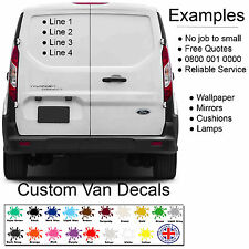 Custom Van / Personalised Car Vehicle Graphics Sign Writing Decals Stickers