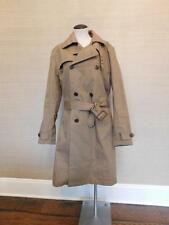 JCrew $298 Ludlow Double-Breasted Water-Repellent Trench Coat S Raw Umber F4513