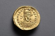 Byzantine Gold Solidus Coin of Emperor Marcian - 450 AD