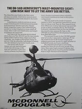 1/83 PUB MCDONNELL DOUGLAS MAST MOUNTED SIGHT OH-58D AEROSCOUT HELICOPTERE AD