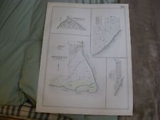 ANTIQUE 1909 WEST & ALDEN CENTER MILL GROVE ERIE COUNTY NEW YORK HANDCOLORED MAP