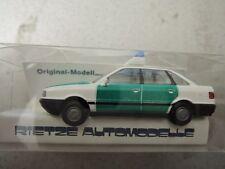 Rietze Audi  80 Polizei grün/weiß in OVP aus Polizei-Sammlung (*4)