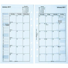 2017 Filofax Personal Size Refill, 17-68410 Month On Two Pages, 6.69 x 3.74""