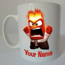 Inside Out Anger Personalised Name Disney Mug Birthday Christmas Gift Present