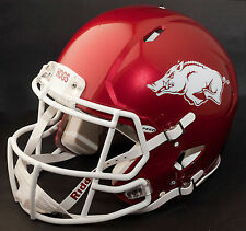 ARKANSAS RAZORBACKS Riddell SPEED Full Size Replica Football Helmet (METALLIC)