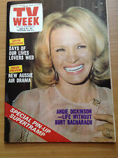 TV Week Mag Jun 1977. Angie Dickinson, Susan Seaforth, Bill Hayes